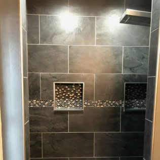 remodeled bathroom shower